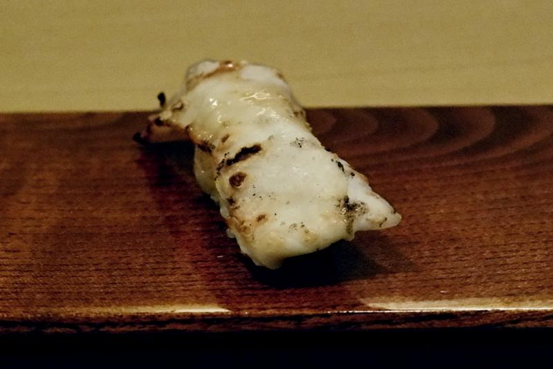 カワハギ皮の炙り