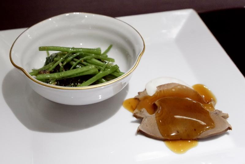 香港産5頭干し鮑と旬野菜の超強火炒め