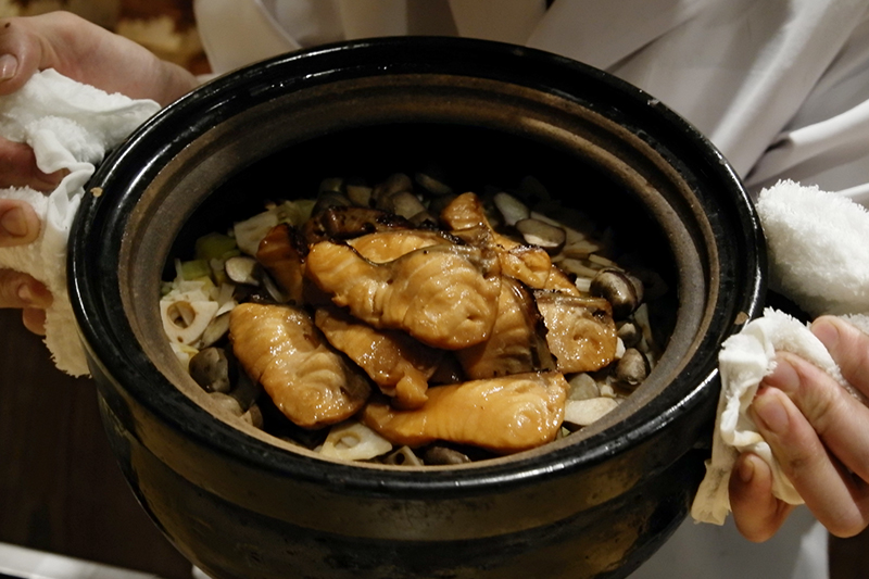 秋鮭、零余子、蓮根、栗、さつま芋ご飯