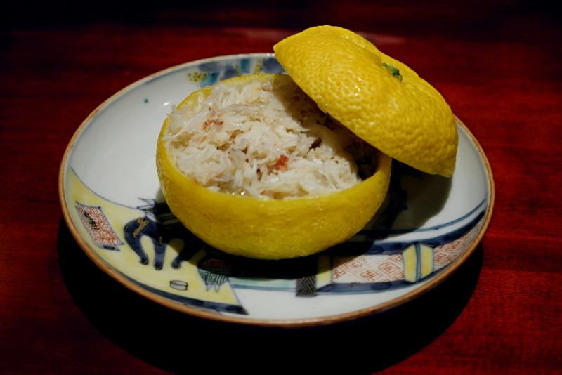 毛蟹とナメコ、もち米の柚子椀