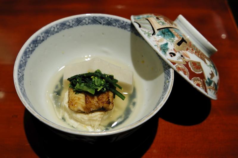穴子、湯葉、海老芋