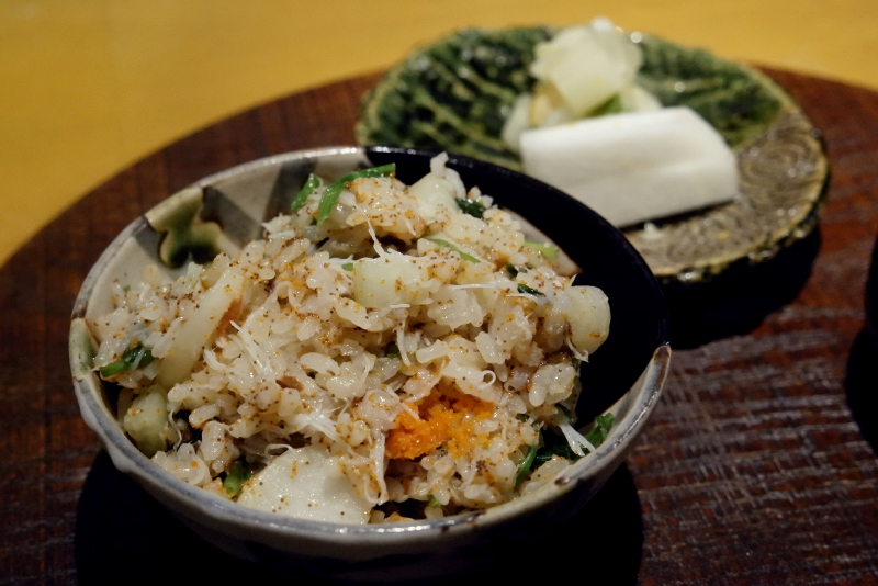 せいこ蟹と七草の炊き込み御飯