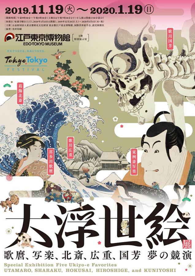 東京江戸博物館「大浮世絵展―歌麿、写楽、北斎、広重、国芳 夢の競演」