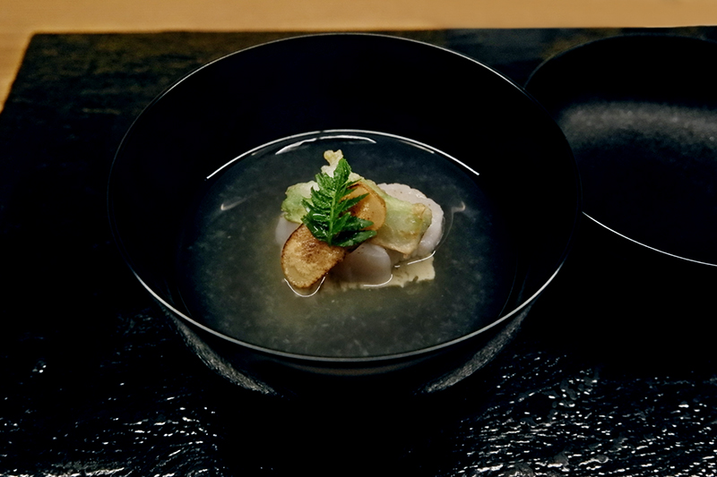 「牡蠣真薯の椀」ふしきの