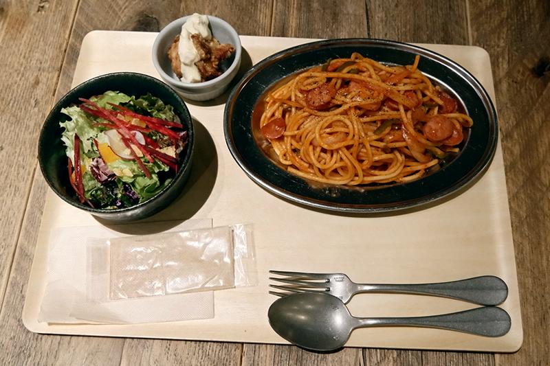 「昼のナポリタン定食」o/sio オシオ