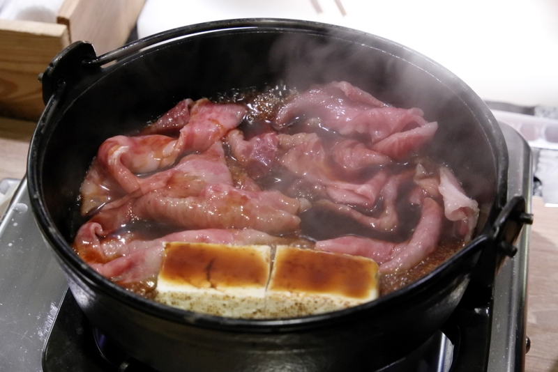 松坂牛サーロインのすき焼き 関西風