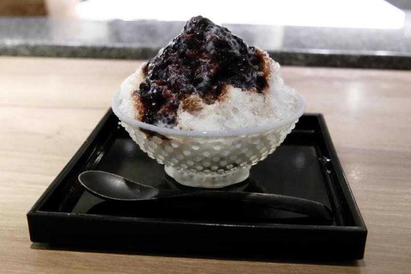 かき氷 バルサミコ酢ストロベリー