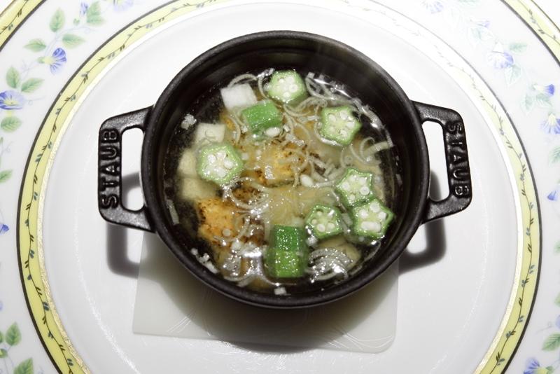 甘鯛と夏野菜のスープ仕立て