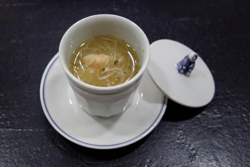 噴火湾産毛蟹の茶碗蒸し