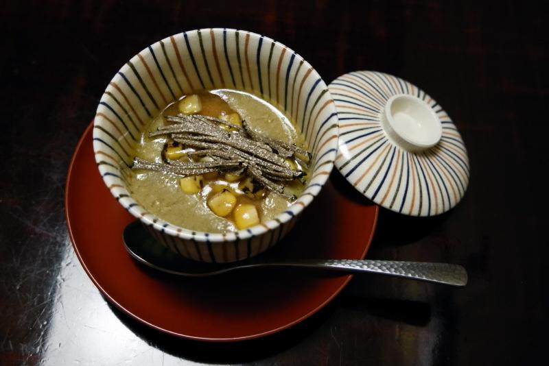 ずわい蟹、玉蜀黍、フォアグラ、トリュフ、白味噌