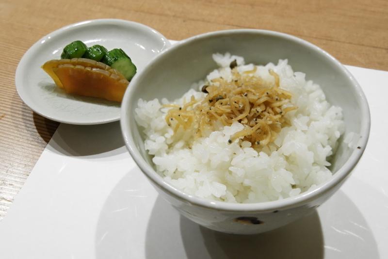 雑魚ご飯、漬物