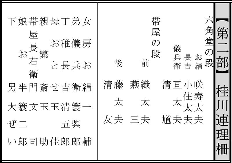 令和2年12月文楽公演 第二部『桂川連理柵』国立劇場
