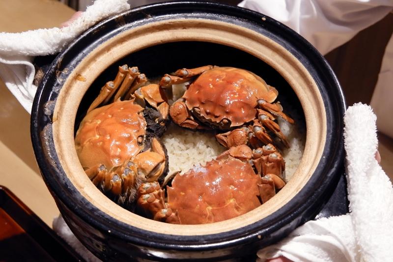 上海蟹ご飯
