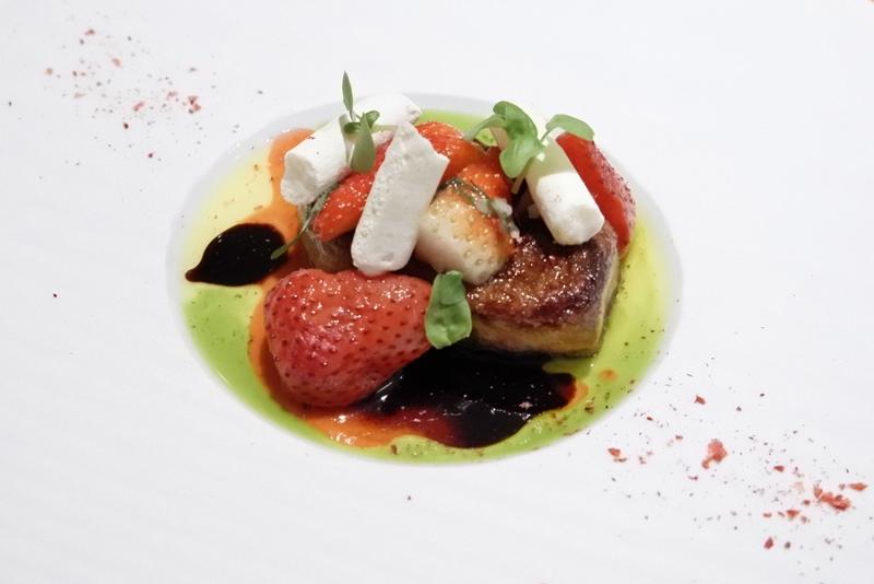 フォアグラ/苺/バジル