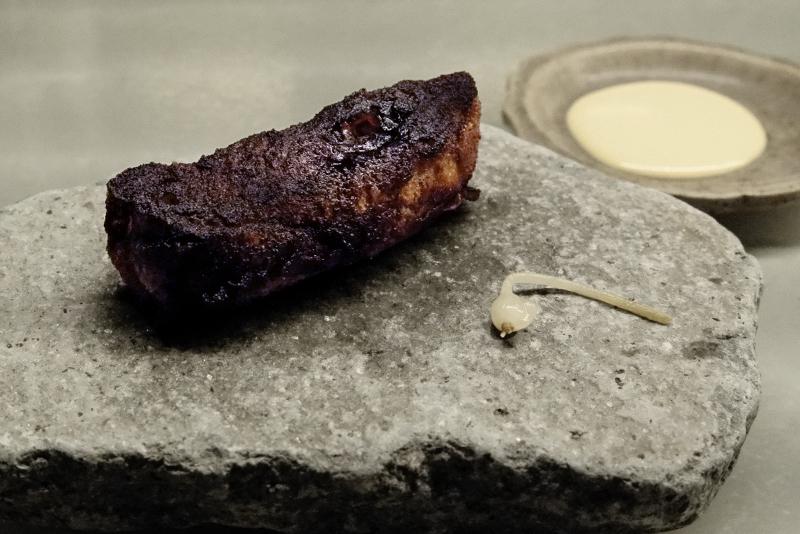 どじょう、辛子白味噌マヨ、野蒜