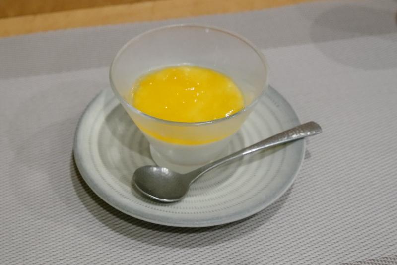 杏仁豆腐、デコポンのジュレ