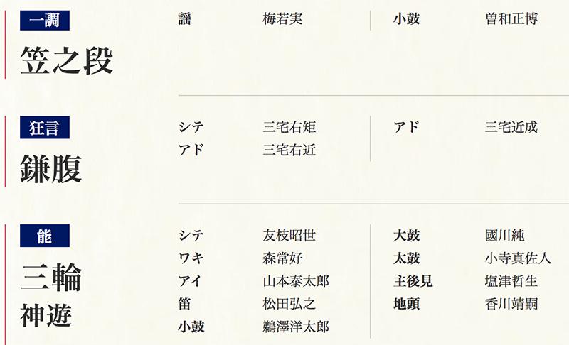 東京2020 オリンピック・パラリンピック能楽祭 狂言『鎌腹』/能『三輪 神遊』