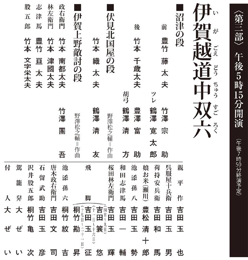 令和3年9月文楽公演 第三部『伊賀越道中双六』国立劇場