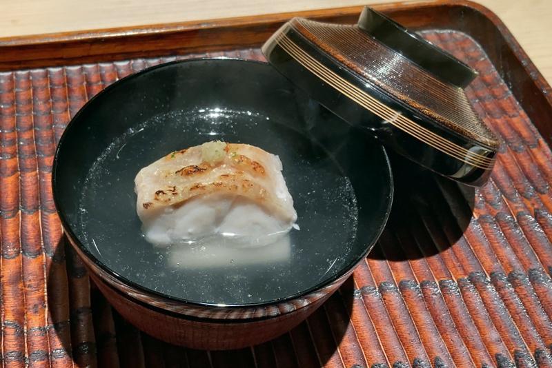 甘鯛、芋茎の椀