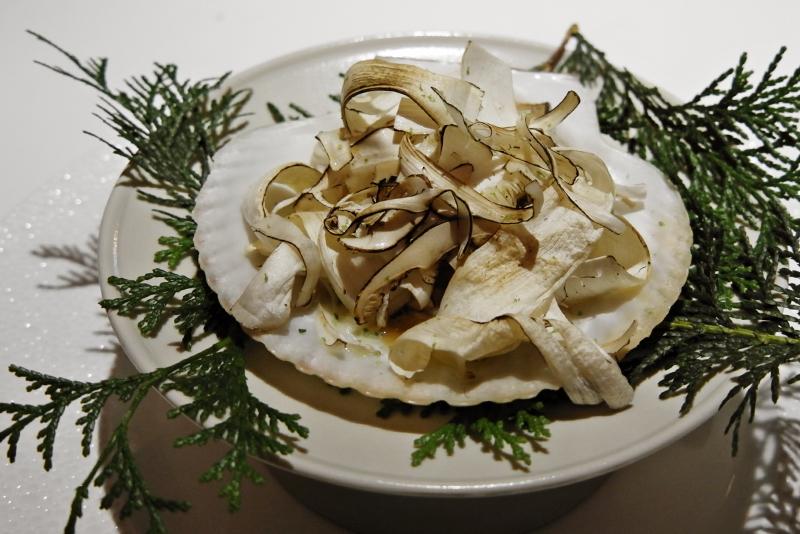 鱧、岩手県産松茸、ササニシキのリゾット